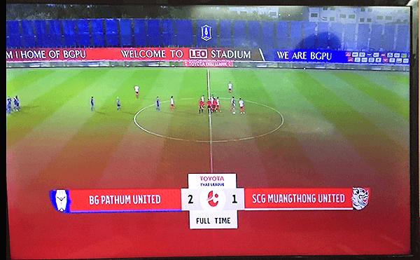 タイリーグBGパトゥム-ムアントンの試合